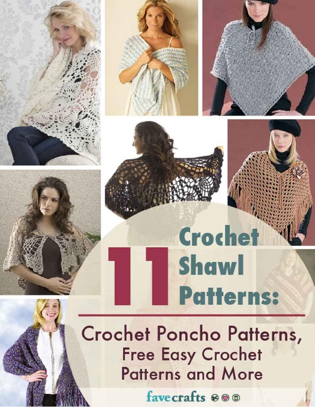 Amazon.com: 11 Crochet Shawl Patterns: Crochet Poncho Patterns, Free ...