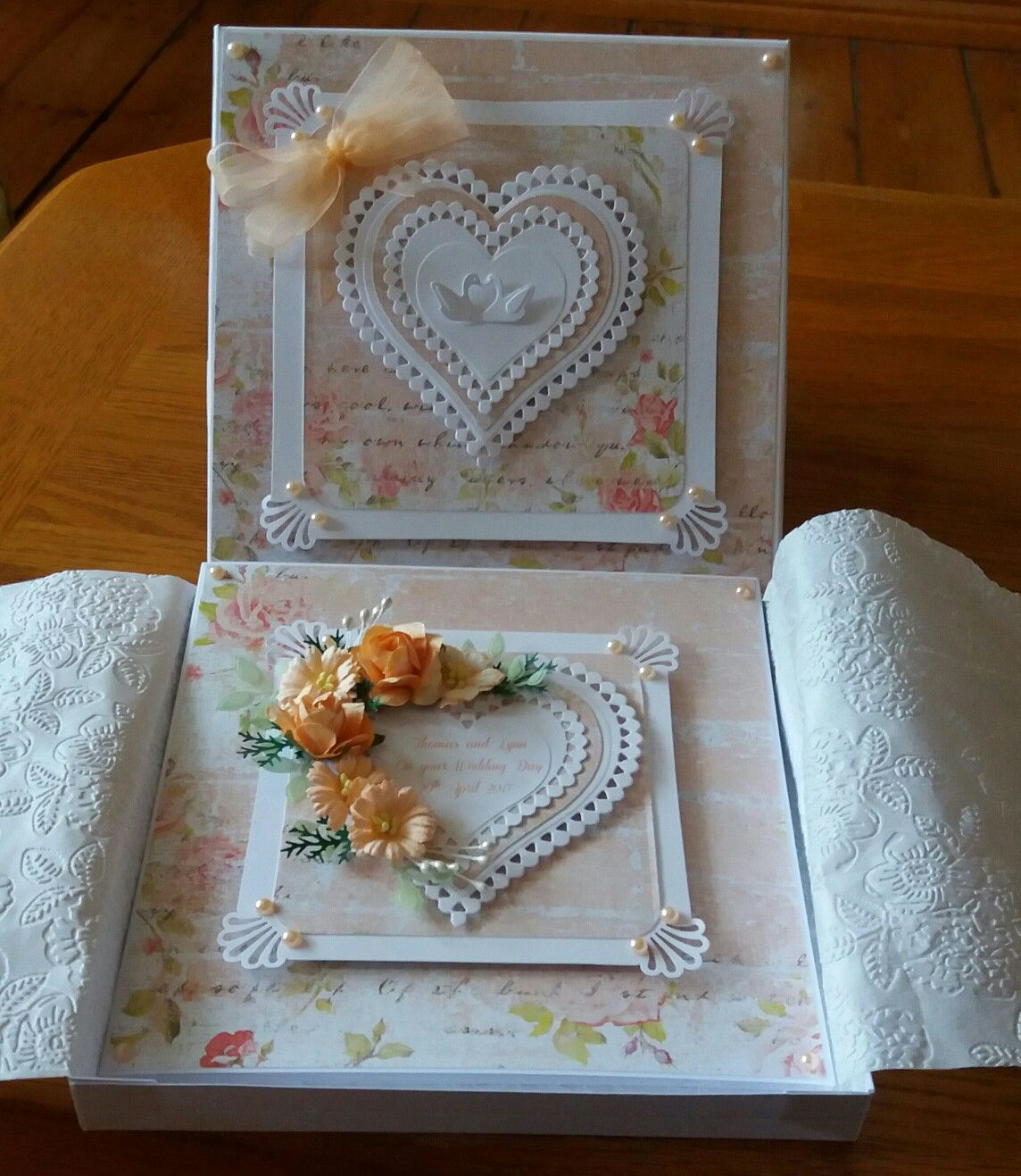 7 X 7 Wedding Card And Matching Box Papers From Anna Marie Nellie