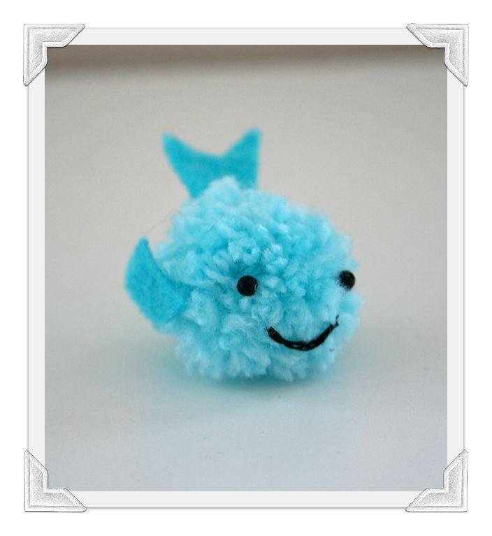 Kawaii pom pom whale craft by ashley lucas for art of for Cute pom pom crafts
