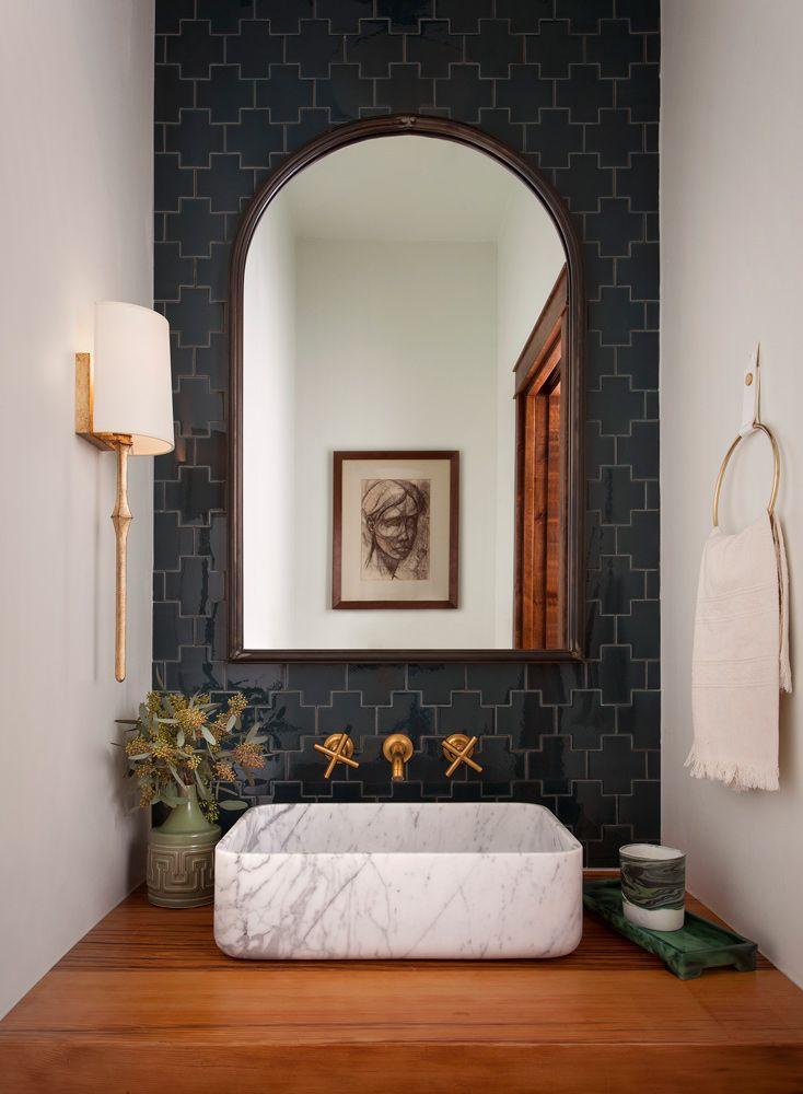 Small Drive Powder Bathroom | BANDD Design Interiors