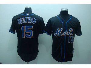 Mlb New York Mets 15 Carlos Beltran Black Jersey New York