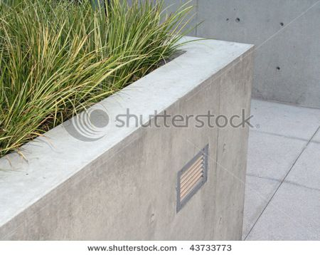 Modern Concrete Planter Stock Photo 43733773 Shutterstock Concrete Retaining Walls Concrete Planters Landscaping Retaining Walls