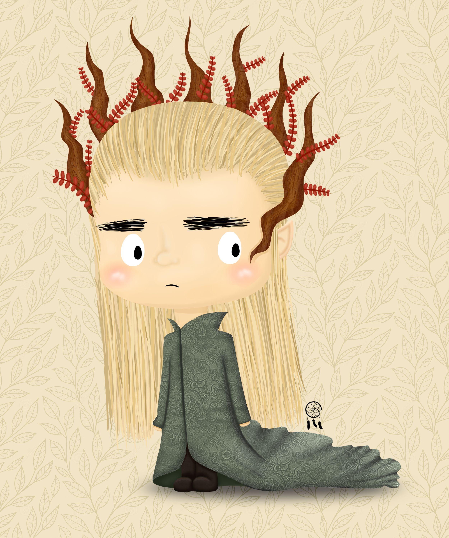 Lil Thranduil Fan Art The Hobbit Trilogy The Elven King Of