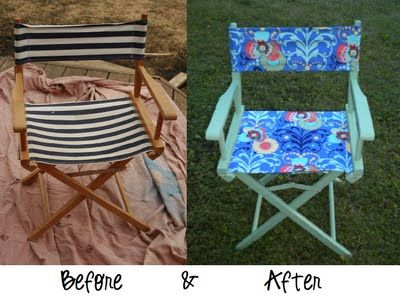 Diy Wednesday Director S Chair Facelift Diy Chair Covers Directors Chair Diy Chair Makeover
