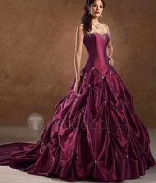Dark Purple Wedding Dress Looks Cool But I Want A White Dress