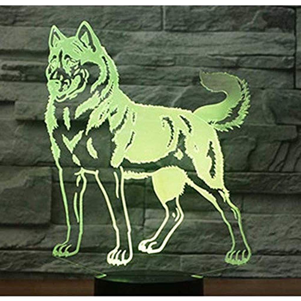 Lampe Der Illusion 3d Geburtstagsgeschenk Led Nachtlicht Bunte Note Summenhund Usb Tiertabellenlampe Schlafzimmerdeko Nachtleuchte Nachtlicht Und Schlummern