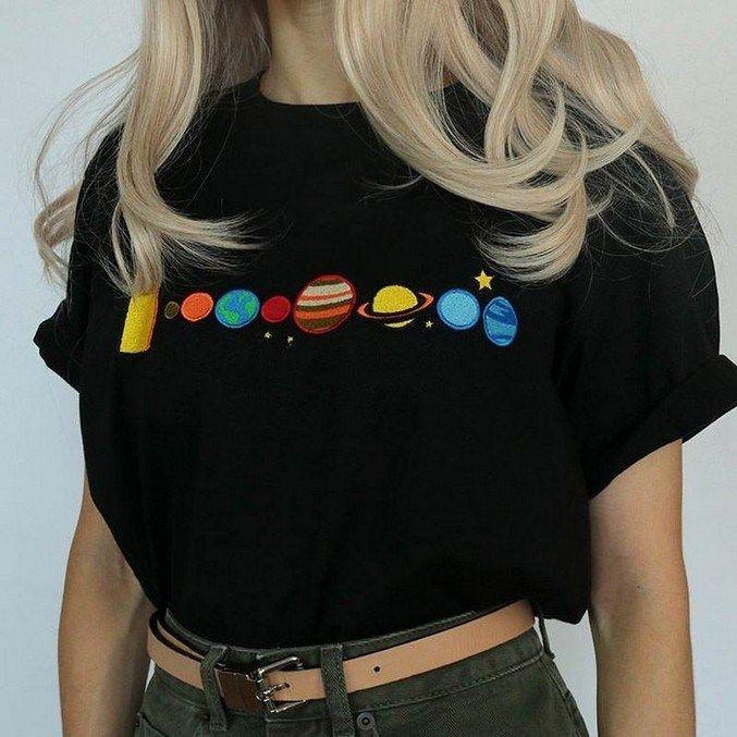 Aesthetic embroidery shirt diy