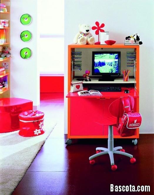 صور غرف اطفال للمذاكرة ديكورات مكاتب اطفال للمذاكرة اجمل مكاتب اطفال Kids Computer Desk Desk Modern Kids