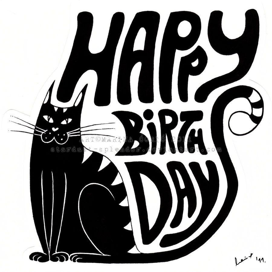 Happy Birthday Cat By Stardust Splendor Deviantart Com On