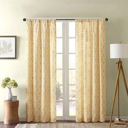 Natalie Global Fretwork Room Darkening Window Curtain Panel