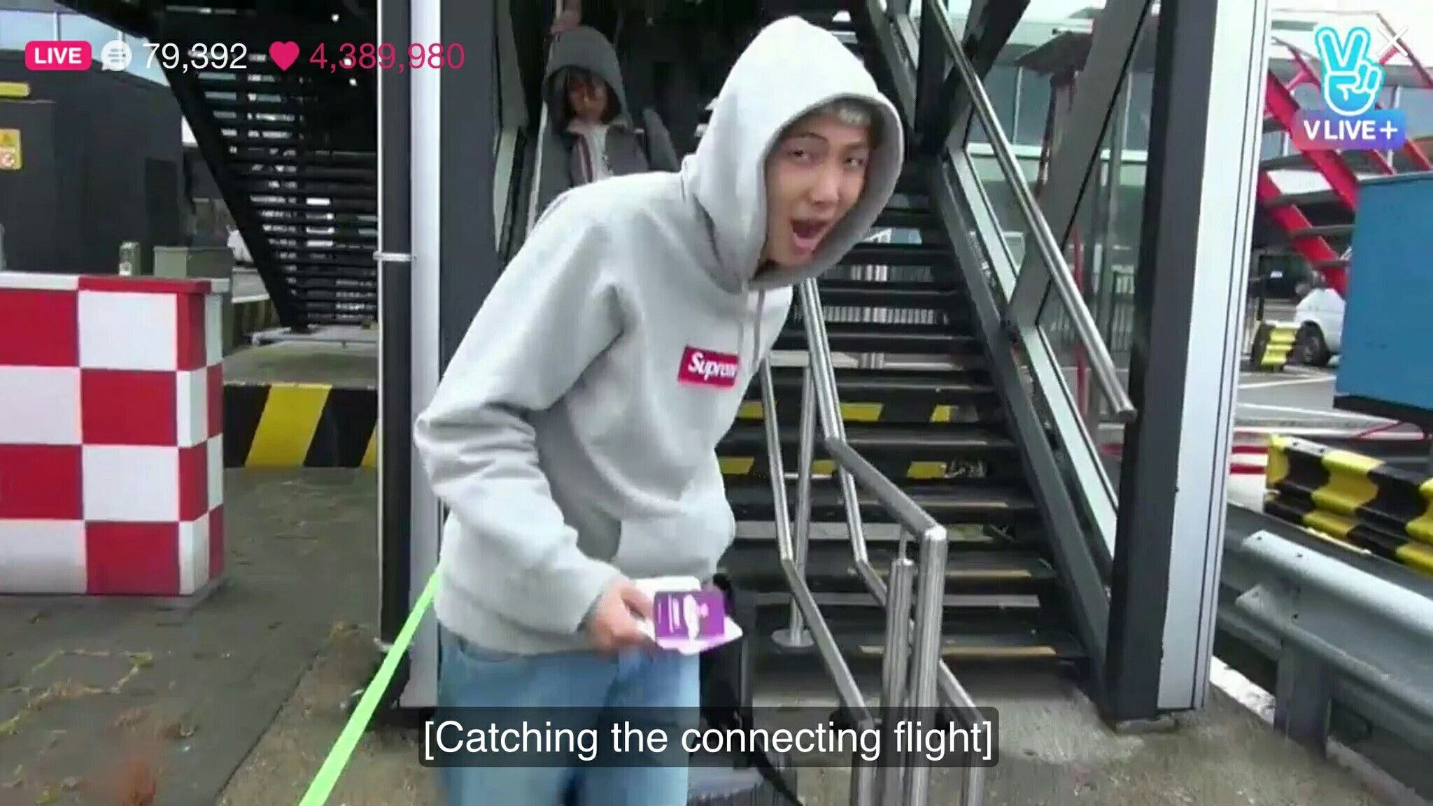 """BTS ë°©ƒ""""소년단 Bon Voyage episode 1 live mentary ❤ Giant E T Mon is"""