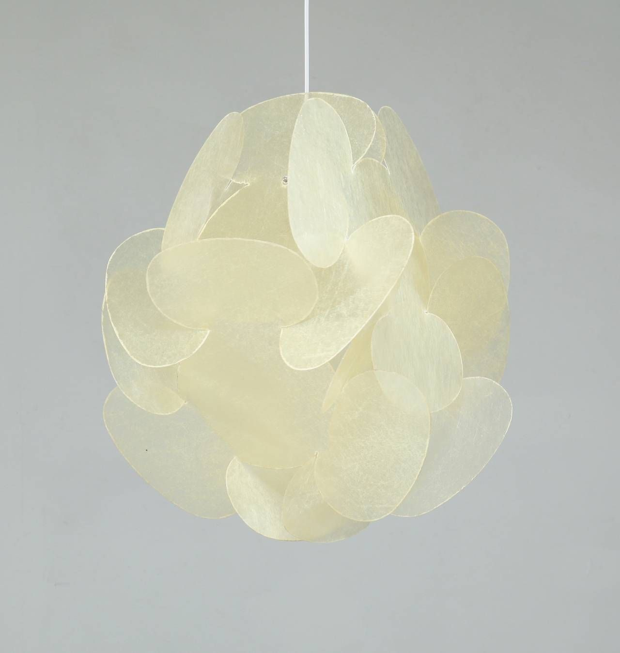 Enrico Botta Extra Large Fiberglass Lamp Sundown Italy 1960s For Sale At 1stdibs
