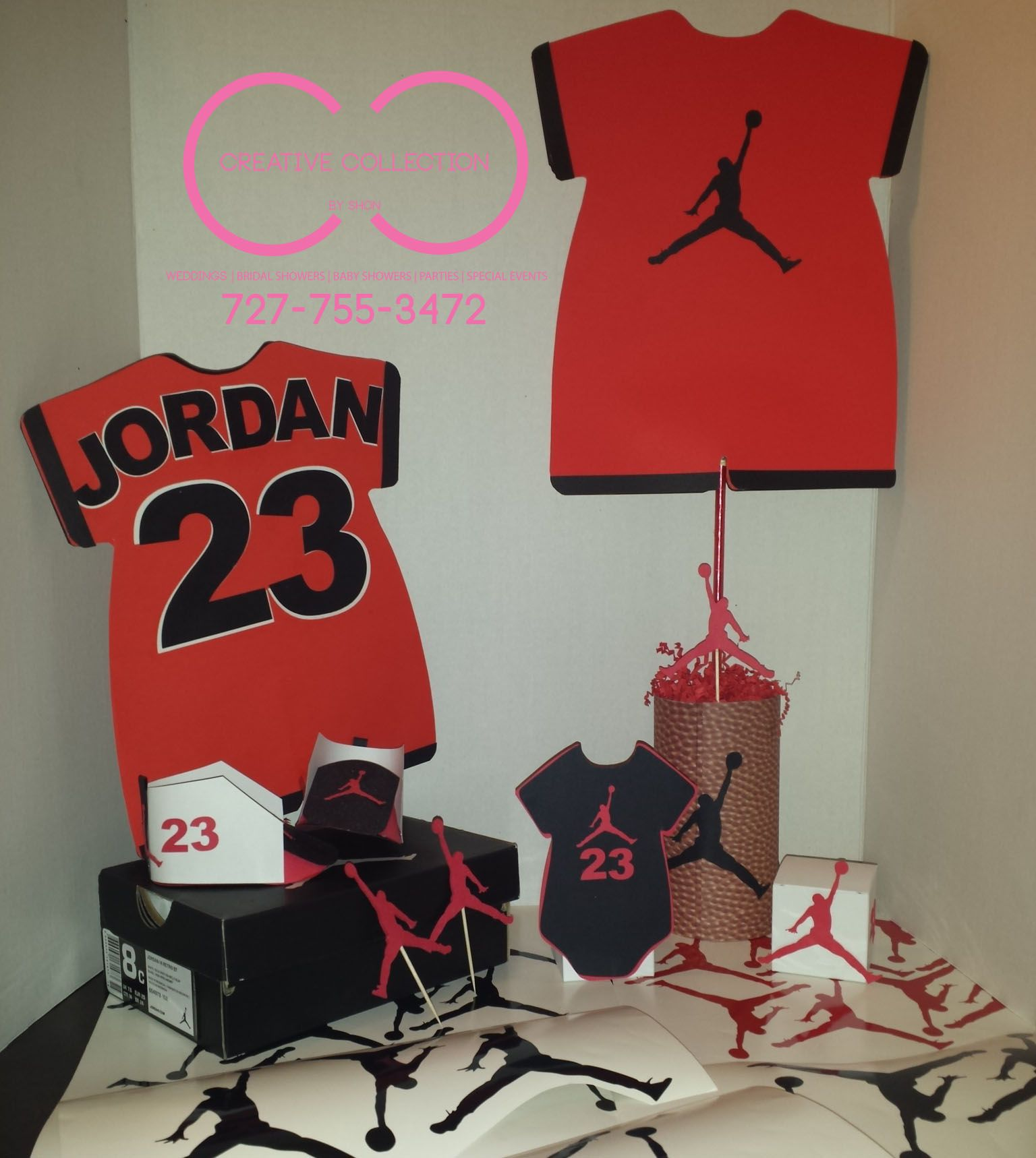 Captivating Jumpman Inspired Party Package. Jordan Baby ShowerParty PackageMichael ...