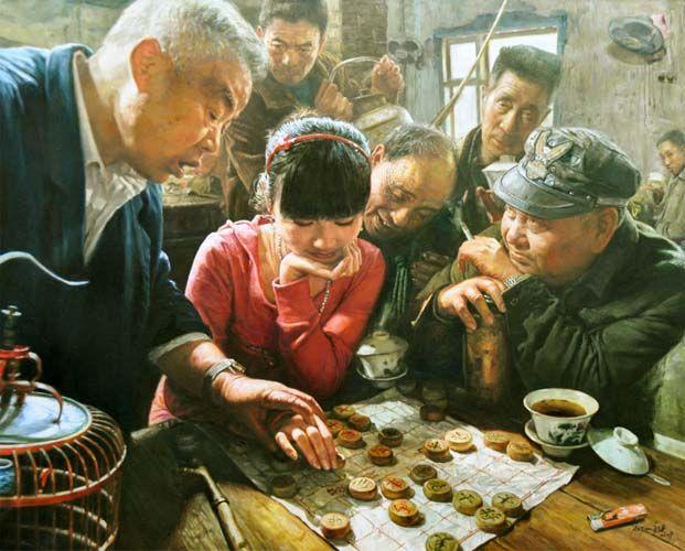 La donna e il gioco...della vita  {pittore - Chen Anjian 陈安健}