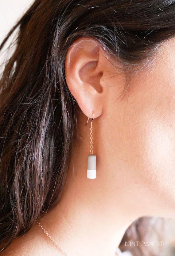 boucle d'oreille minimaliste argent