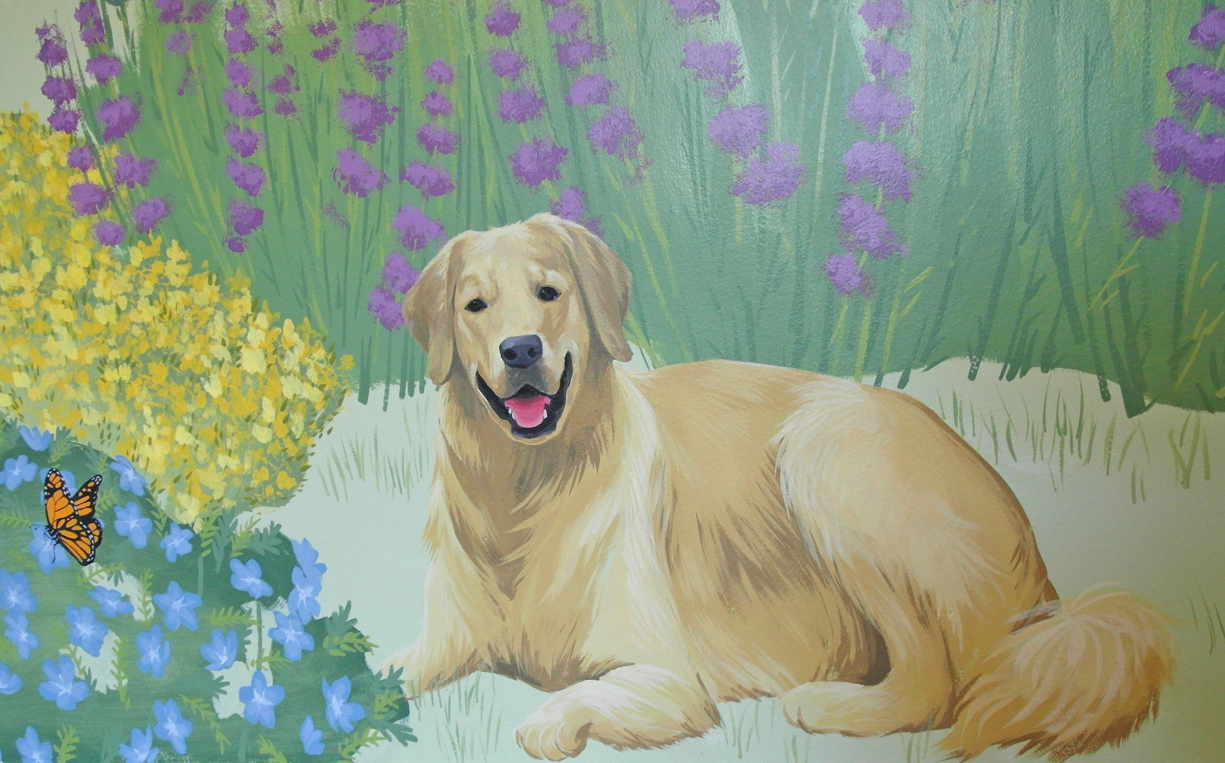 A Happy Golden Retriever Dog Portrait Is Part Of My Newest Kid S