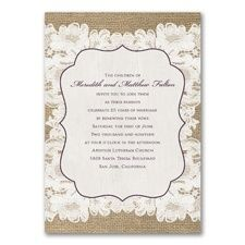 Weathered Lace Vow Renewal Invitation at CardsShoppe