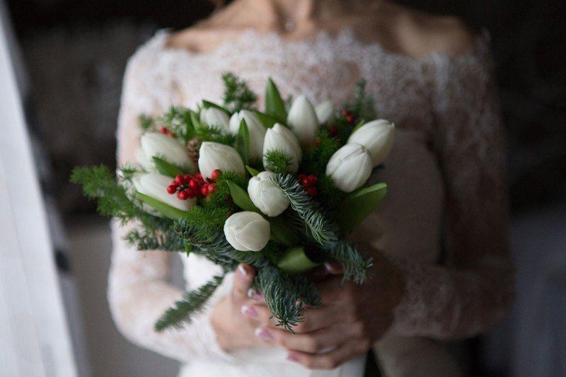 Bouquet Sposa Natale.Real Wedding Il Matrimonio Di Natale Di Giorgia E Gianluca