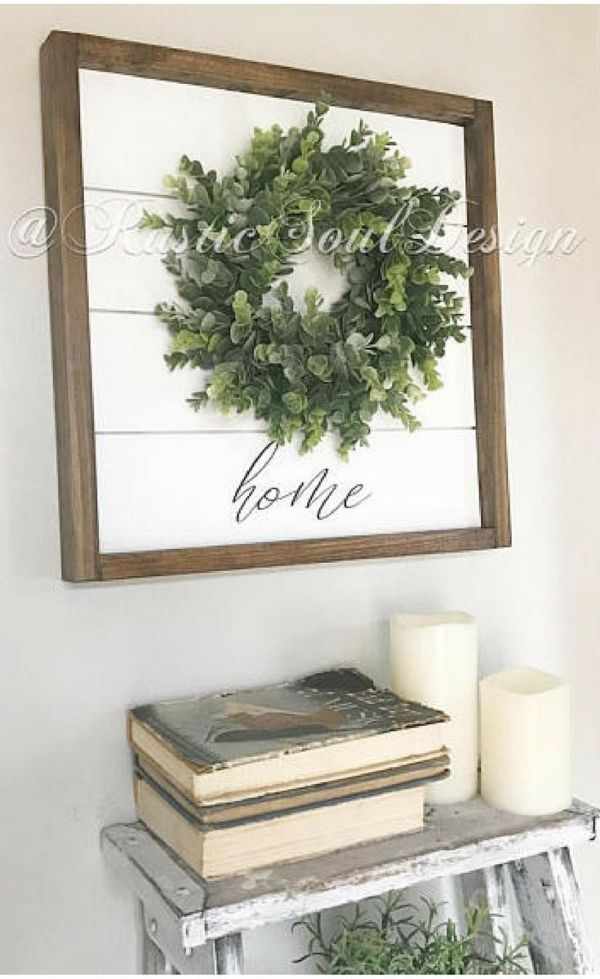 Photo of Perfect farmhouse style sign for my living room. Love the simplicity! And it has …