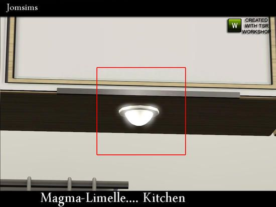jomsims' MAGMA ceiling light for cabinet
