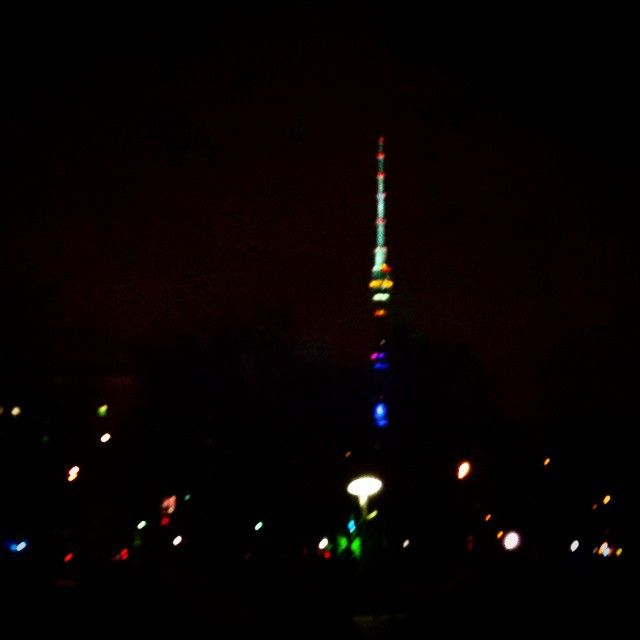 #Ostankino #Tower. #Moscow #Russia #TV #TVtower #Radio #Evening #Lights #Night #Blurred