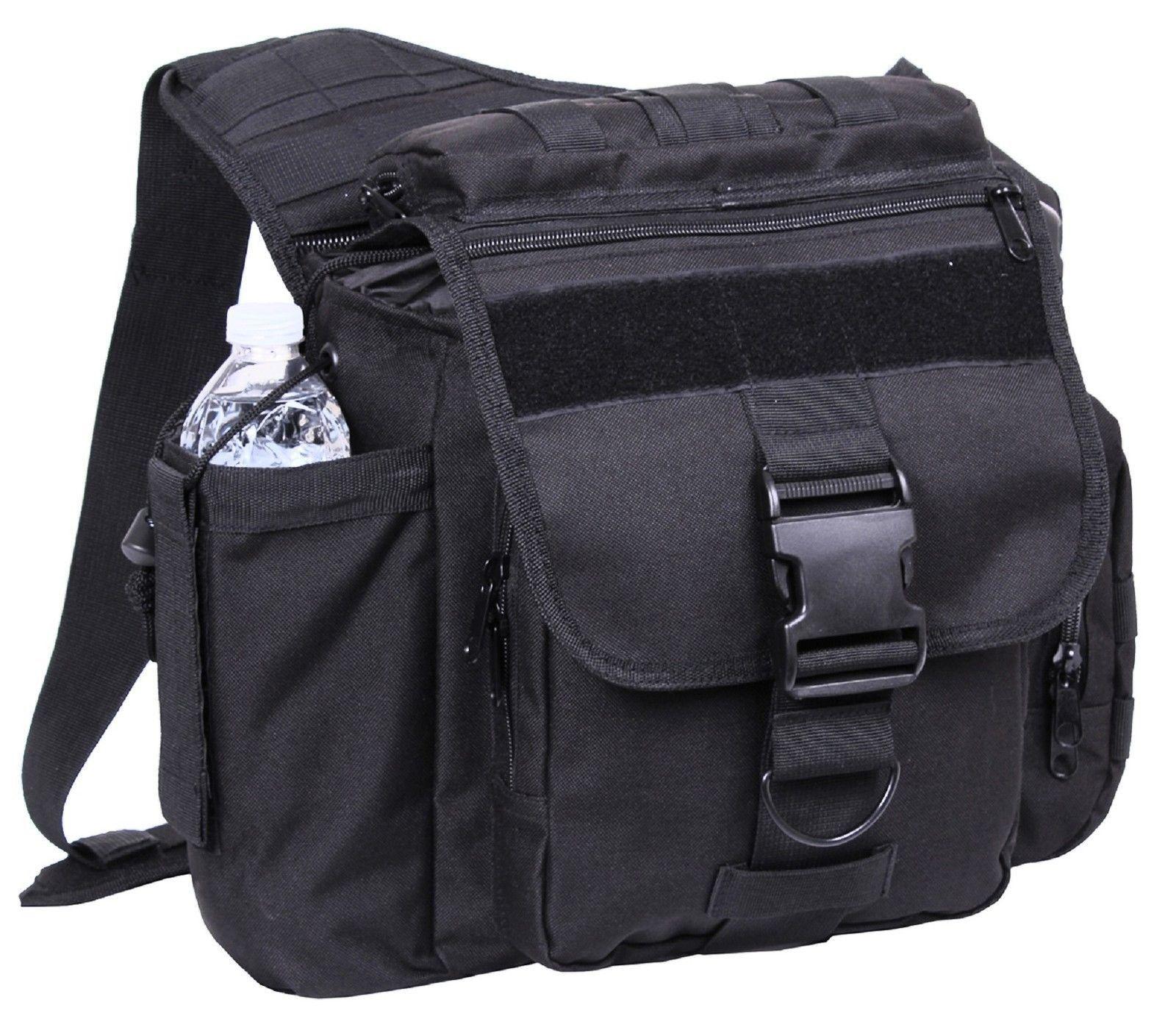 Rothco XL Advanced Tactical Shoulder Bag - Black or Brown Single Strap Pack