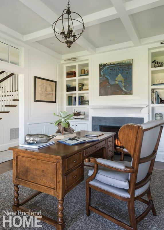 Rooms With A Coastal View New England Home Magazine House And Home Magazine Home Office Design Home Office Decor