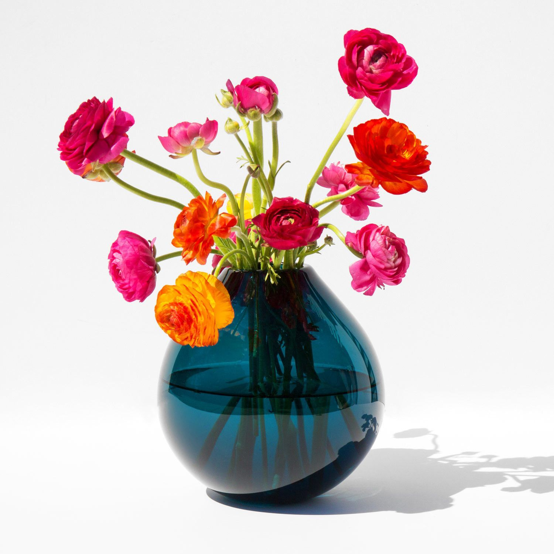 samuji koji mouth blown drop glass vase kindred black for the