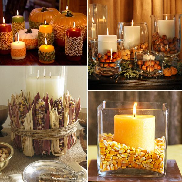 Fall centerpiece without flowers google search 11 for Thanksgiving centerpieces with candles