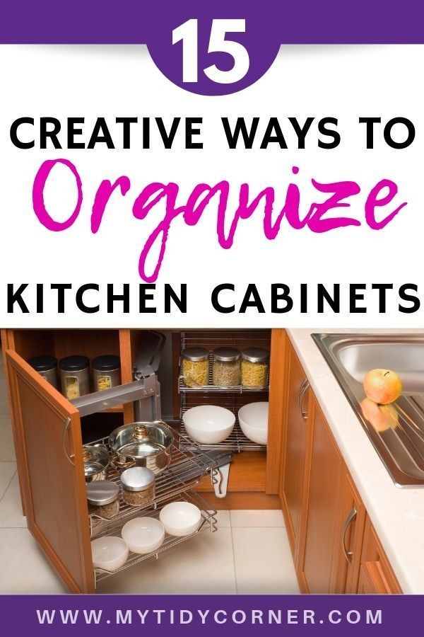 how to organize kitchen cabinets 15 creative on clever ideas for diy kitchen cabinet organization tips for organizers id=20360