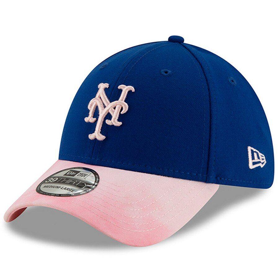 bec8c4e1b87d4 New York Mets New Era 2019 Mother s Day 39THIRTY Flex Hat - Royal Pink