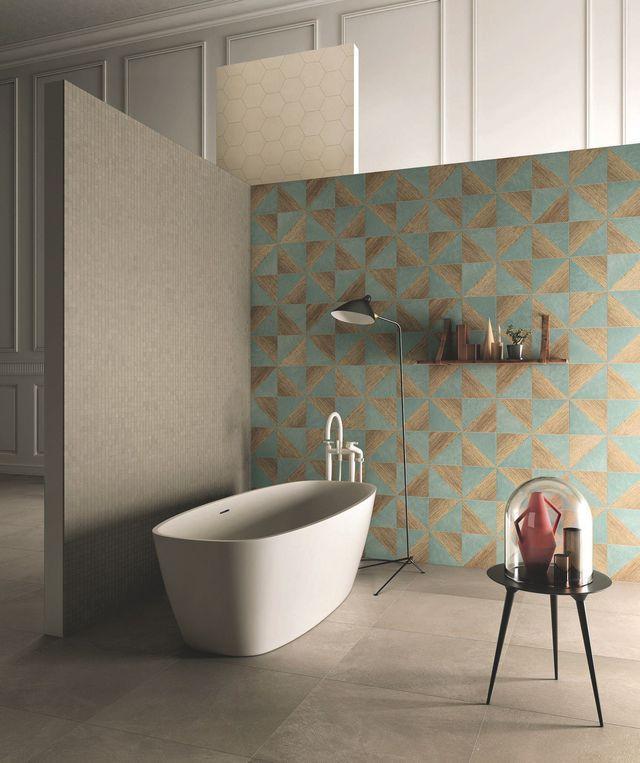 Grès Cérame Carrelage Effet Marbre Parquet Béton Gres Cerame - Panneau mural salle de bain imitation carrelage