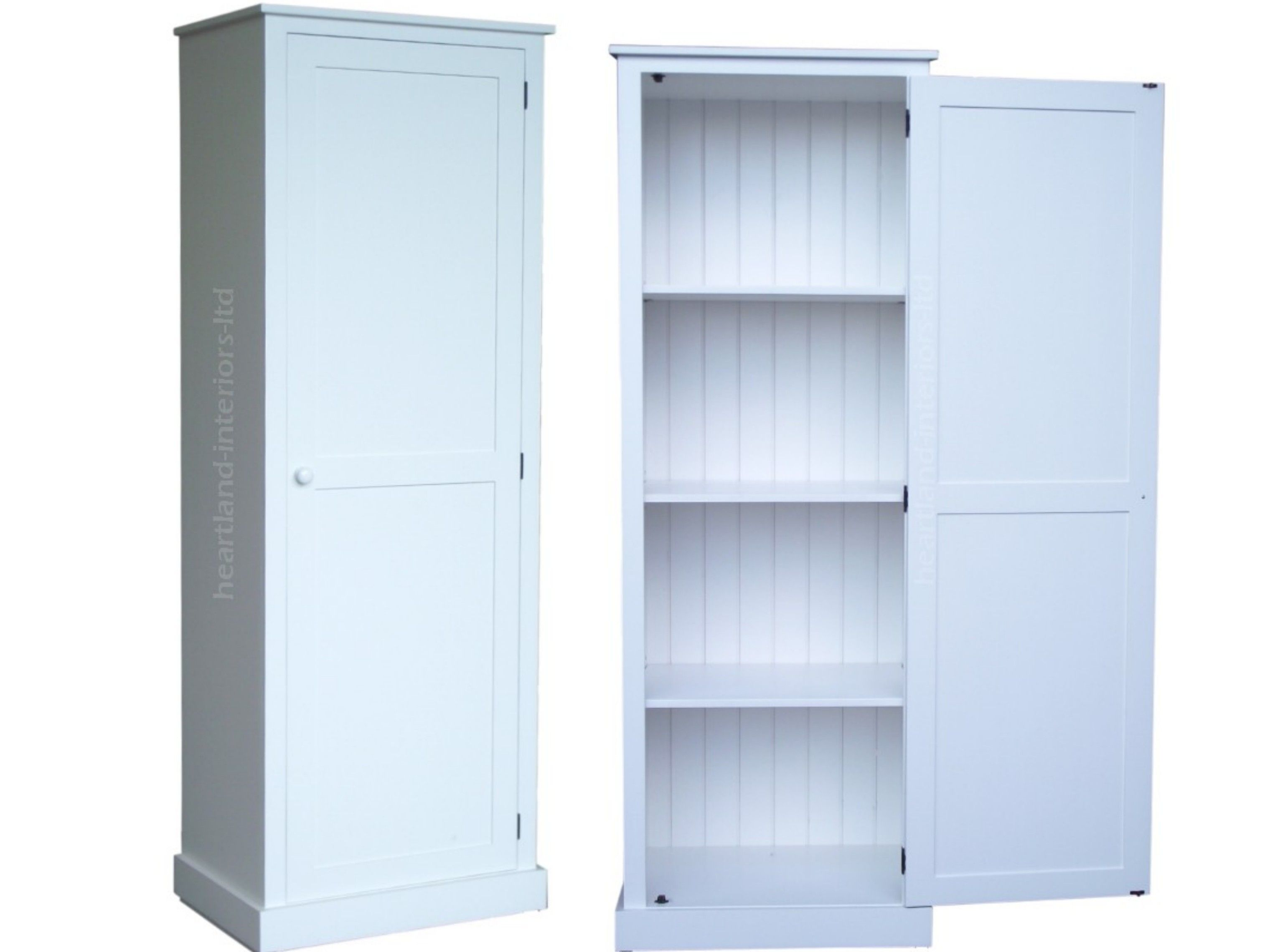 1 Dr Painted Pantry Linen Larder Hallway Storage Cabinet