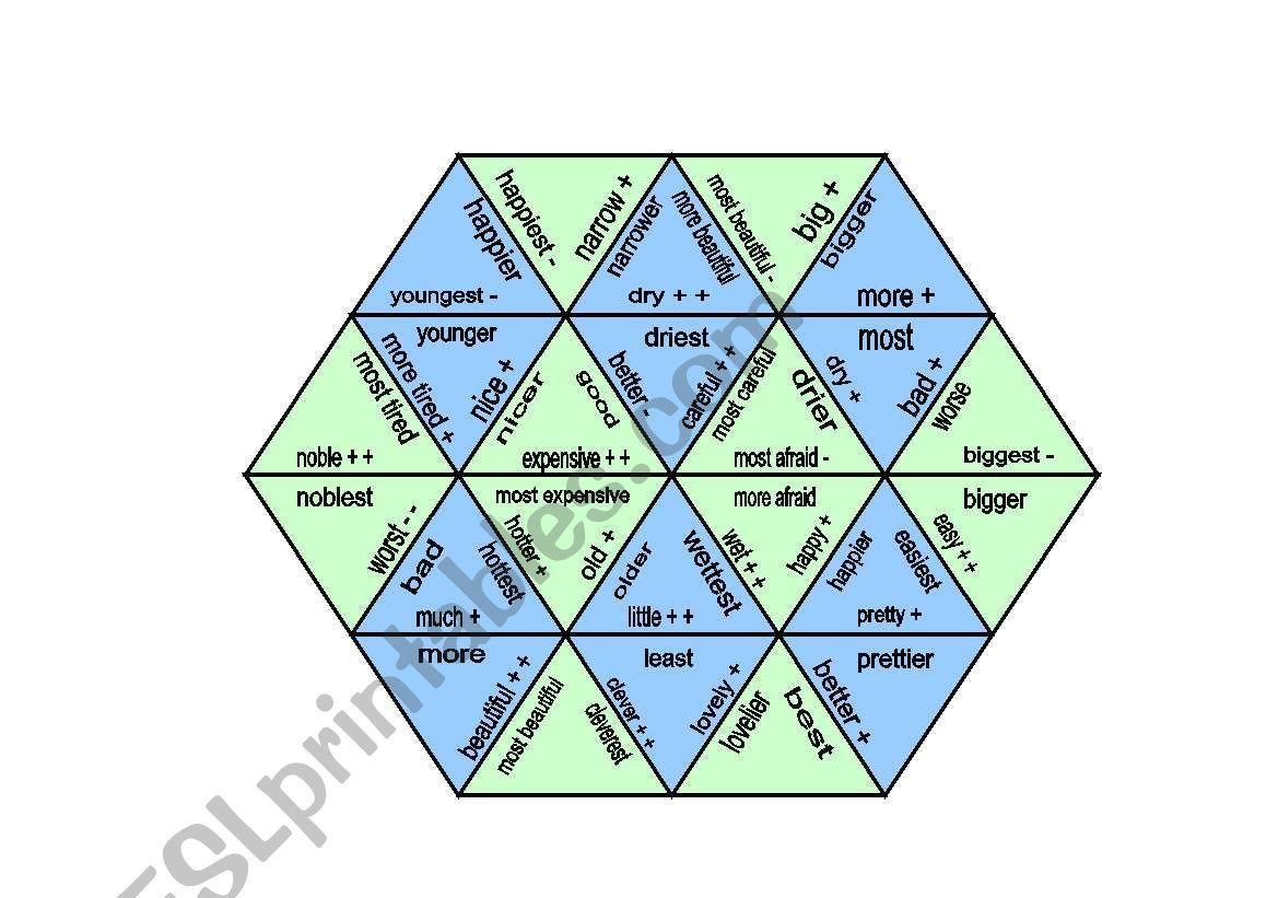 Comparison Puzzle Trimino Worksheet