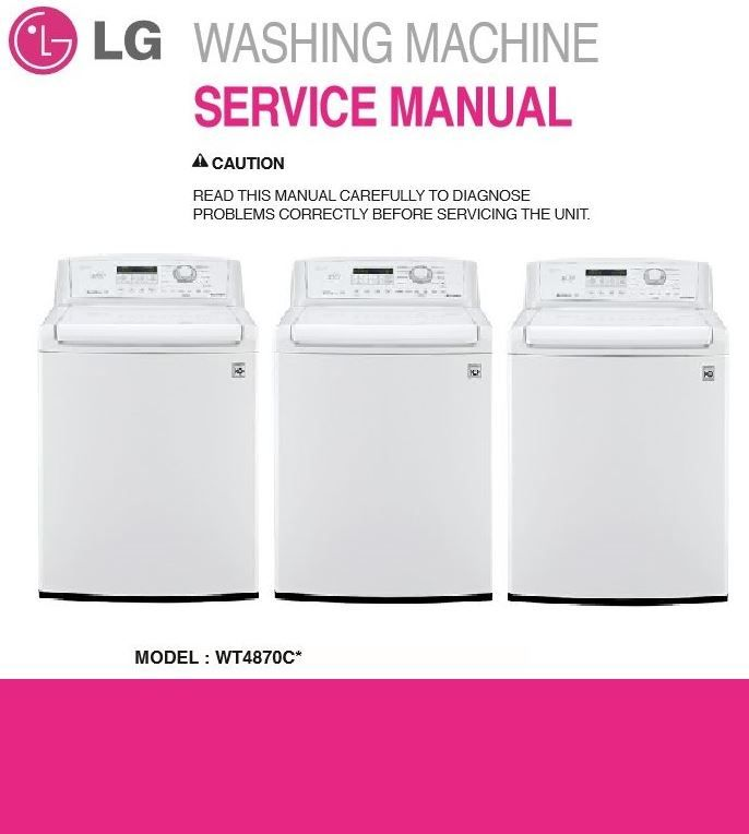 lg wt4870cw top load washer service manual troubleshooting guide rh pinterest com lg washer repair manual pdf lg washer wm2016cw repair manual