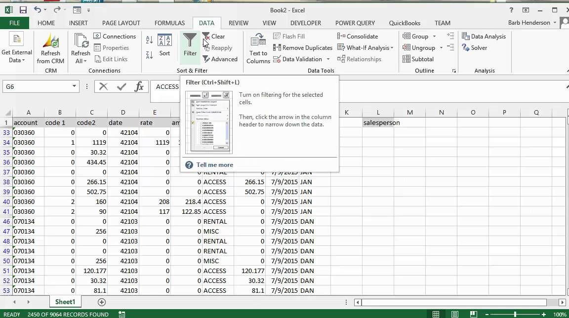 How to create an advanced filter using wild cards in Excel