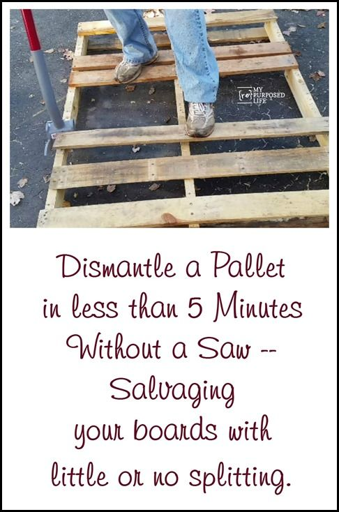 Pallet Projects and Tips for Dismantling Pallets