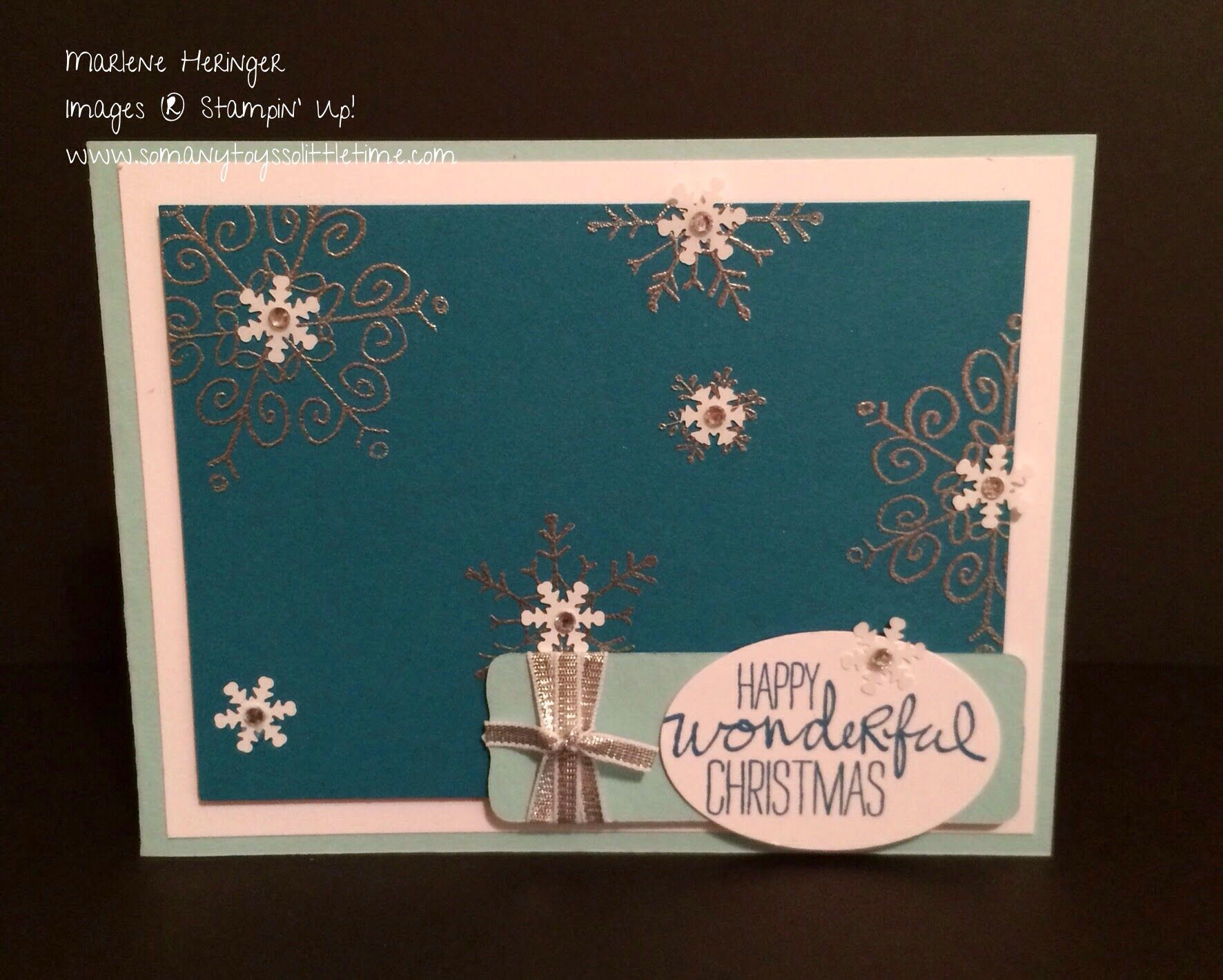 So Many Toys So Little Time...Stampin Up Pals Paper Arts, Endless Wishes, Christmas