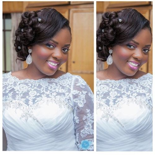 Beautiful Ghanaian Bride Hair Amp Makeup By Beauvhiqbyjenn Photo By Pkha African Wedding Hairstyles Black Wedding Hairstyles Wedding Hairstyles Bride