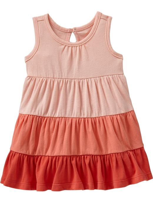 Tiered Color-Blocked Dresses for Baby Product Image