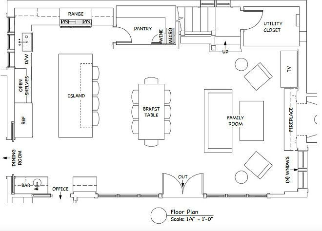 Ordinary Kitchen Design Floor Plans Part - 3: The Ultimate Gray Kitchen Design IdeasThe Room Is 35u2032-8u2033 Long By 23u2032-5u2033  Deep. The Kitchen Portion Is Within That (12u2032-5u2033 By 23u2032-5u2033).