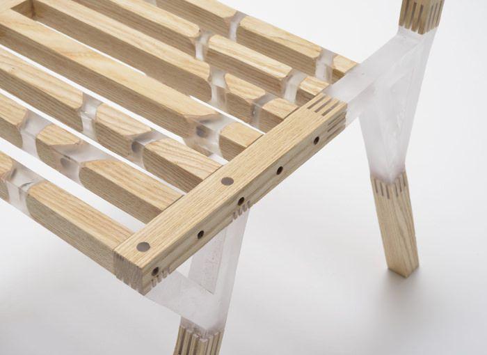 Quartz Chaise Bois Resine Par Taichi Sekiguchi Design Ebenisterie