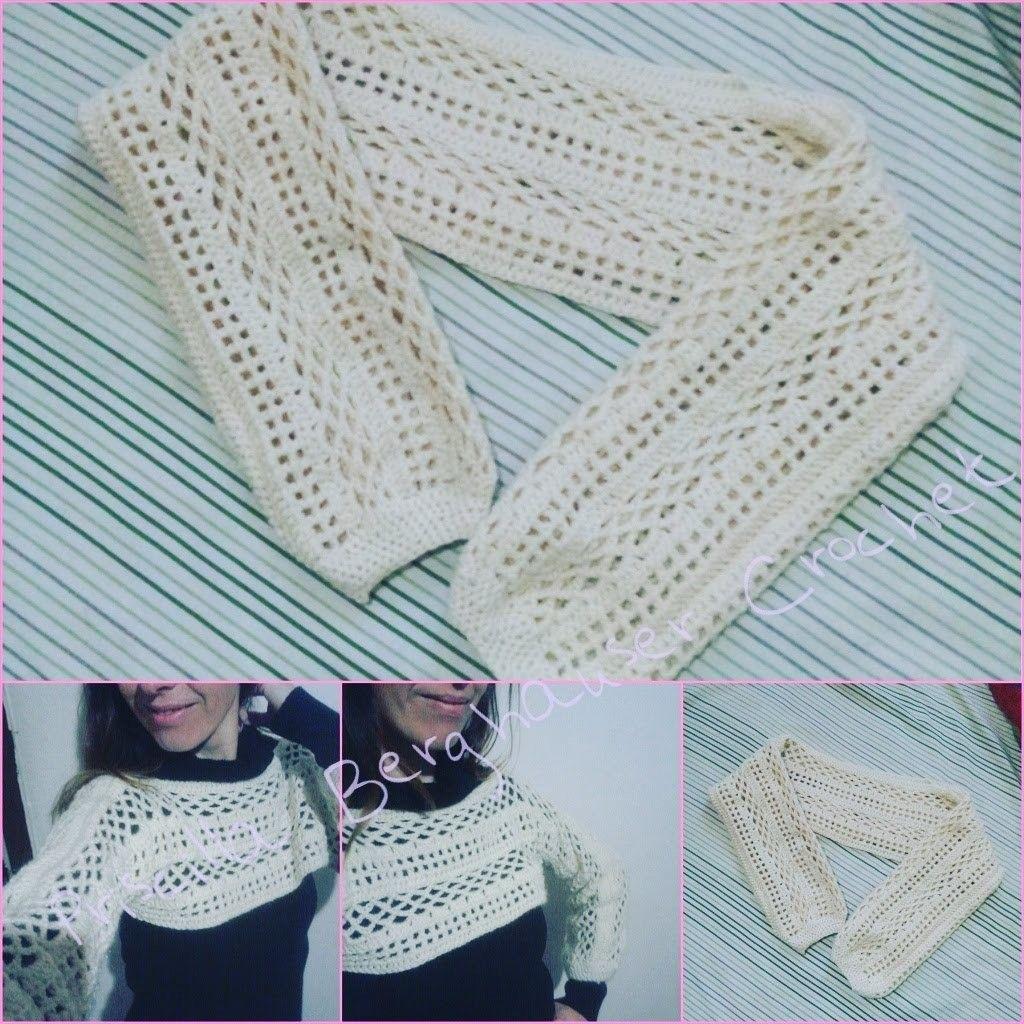 Cropped de Croche Parte 1.Bolero de croche. Crochet Shrug.Crochet ...