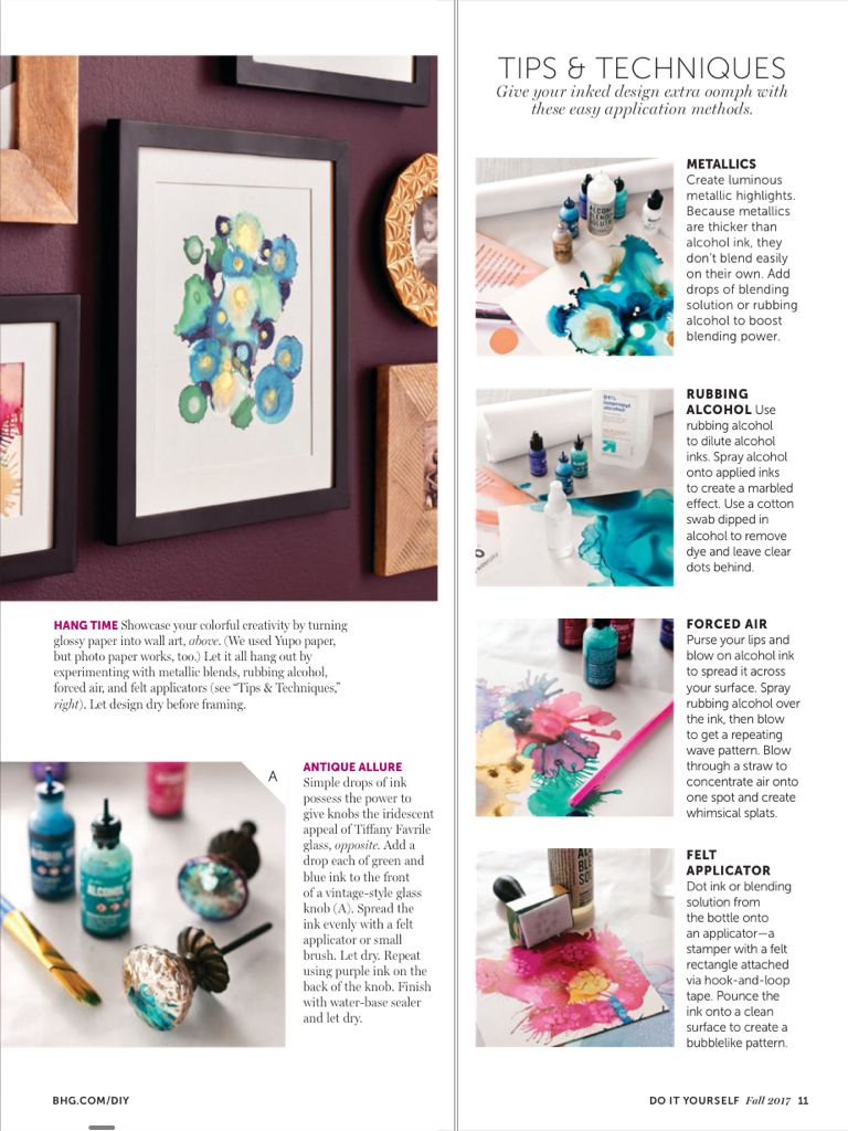 Alcohol ink from do it yourself magazine fall 2017 read it on the alcohol ink from do it yourself magazine fall read it on the texture app unlimited access to top magazines solutioingenieria Gallery