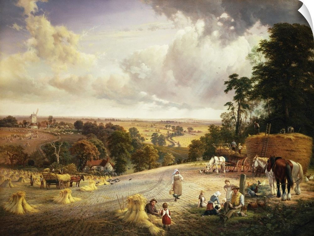 A Summer's Afternoon, Near Mereworth, Kent By Vicat