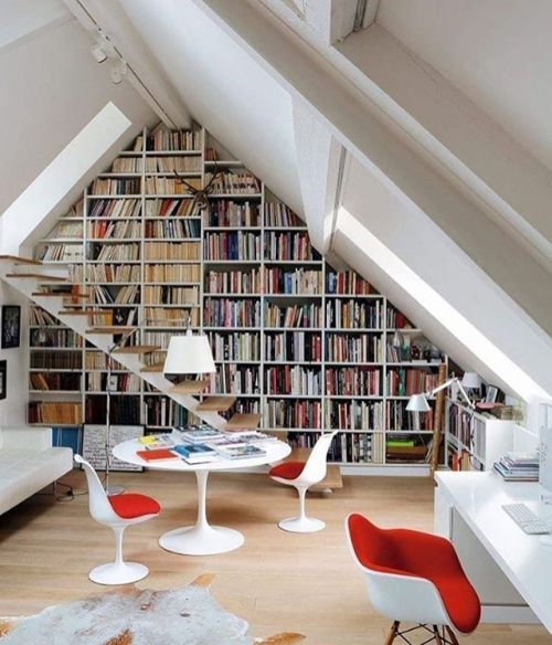 Check out @LiamBarion for more Top floor mini-library - Architecture