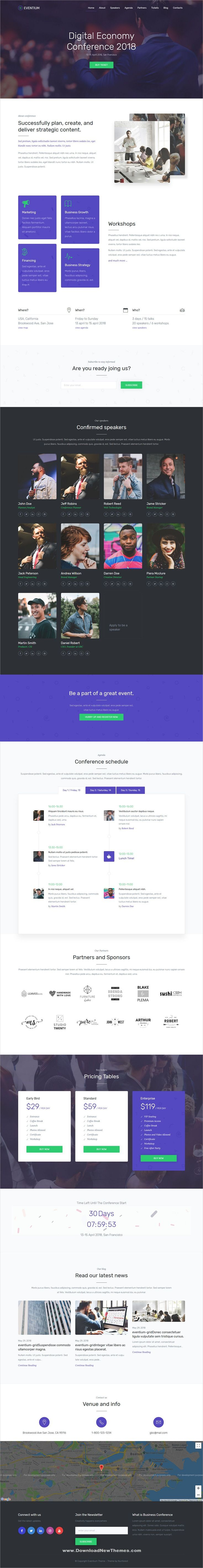 Eventium is a clean and modern design responsive WordPress