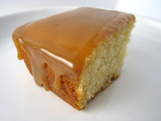 Cake + caramel glaze.