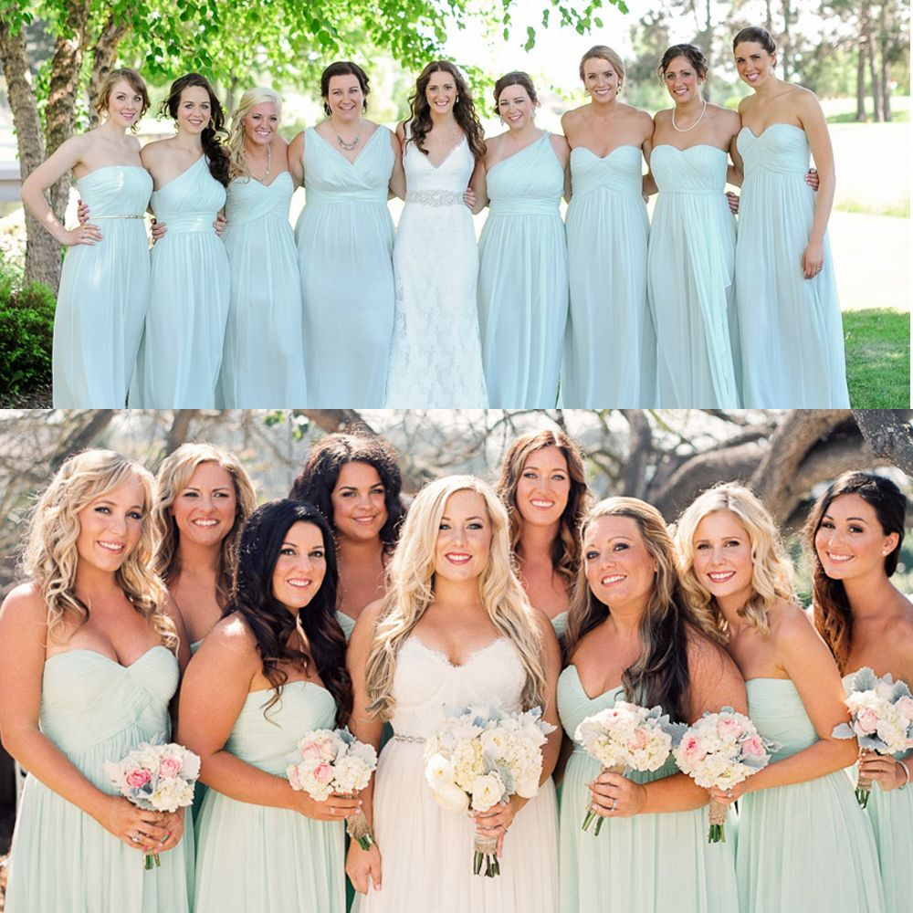 Donna Morgan bridesmaid dresses // Beautiful Beach Glass ...