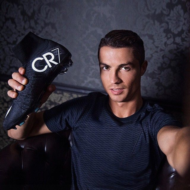 Cristiano Ronaldo with his Nike CR7 Superfly